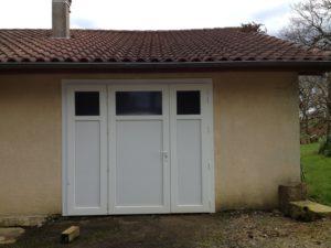 Porte de garage en PVC (Blanc)