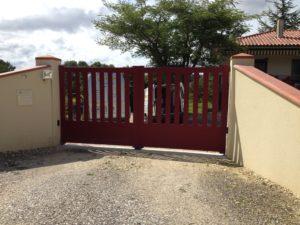 Portail de clôture en Aluminium